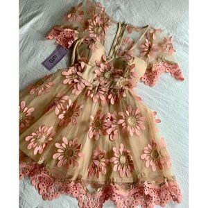 Flower Flare Tulle Dress